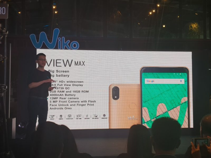 New Wiko View MAX spec สเปค