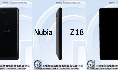 Nubia Z18 leak