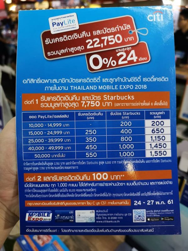 Promotion Credit Card in TME 2018 MAY - CitiBank