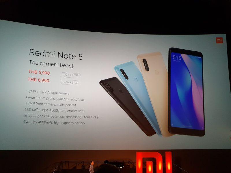 Xiaomi Redmi Note 5 Price TH