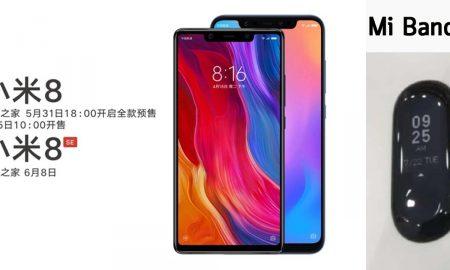 Xiaomi Mi 8 and Mi 8 SE and Mi Band 3