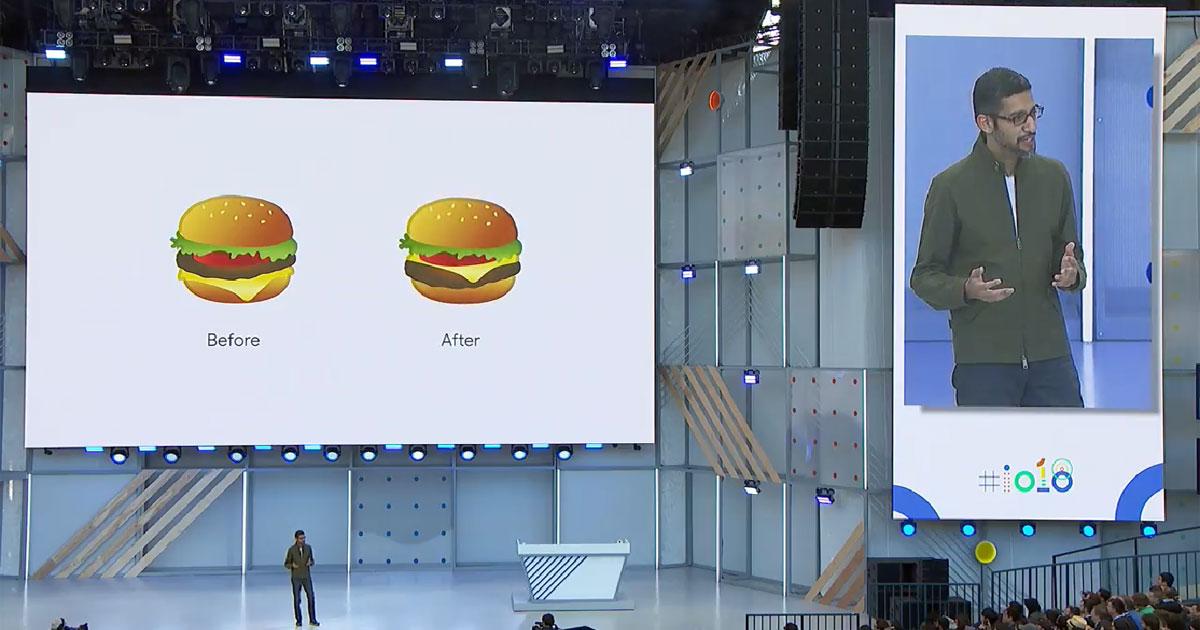 Emoji cheeseburger google io2018