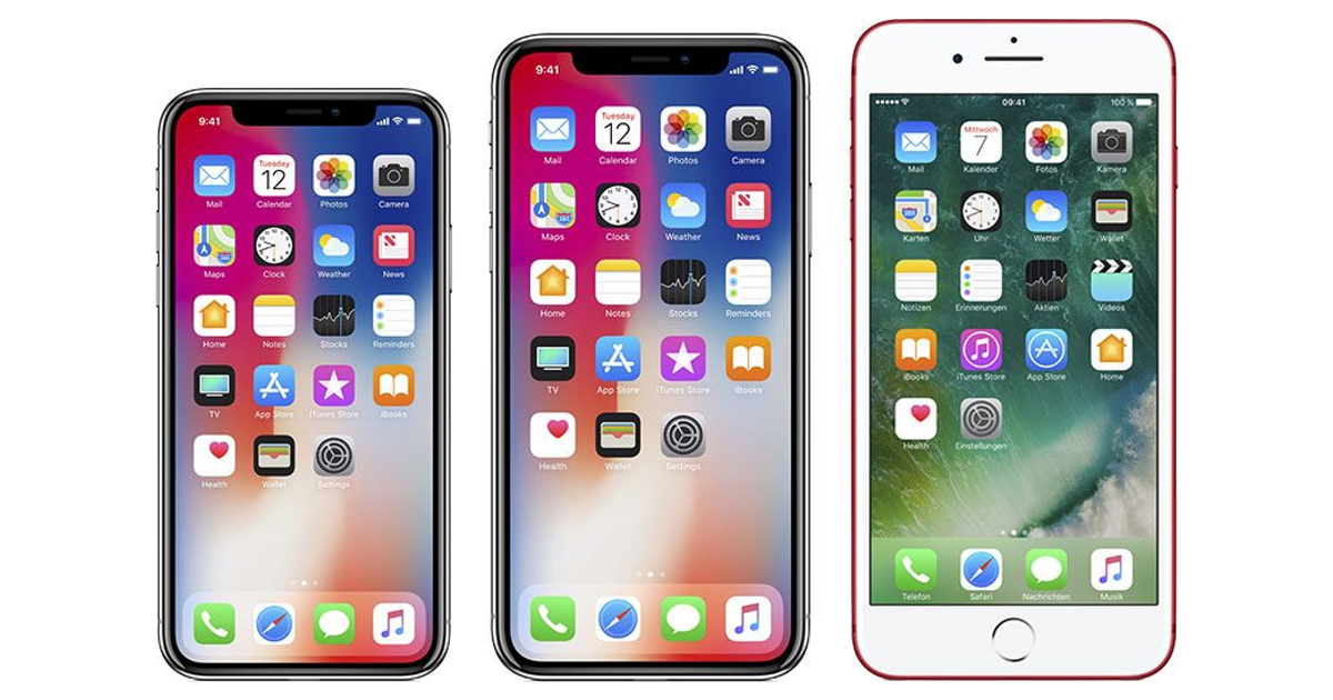 iPhone X iPHone 8 Plus compare size