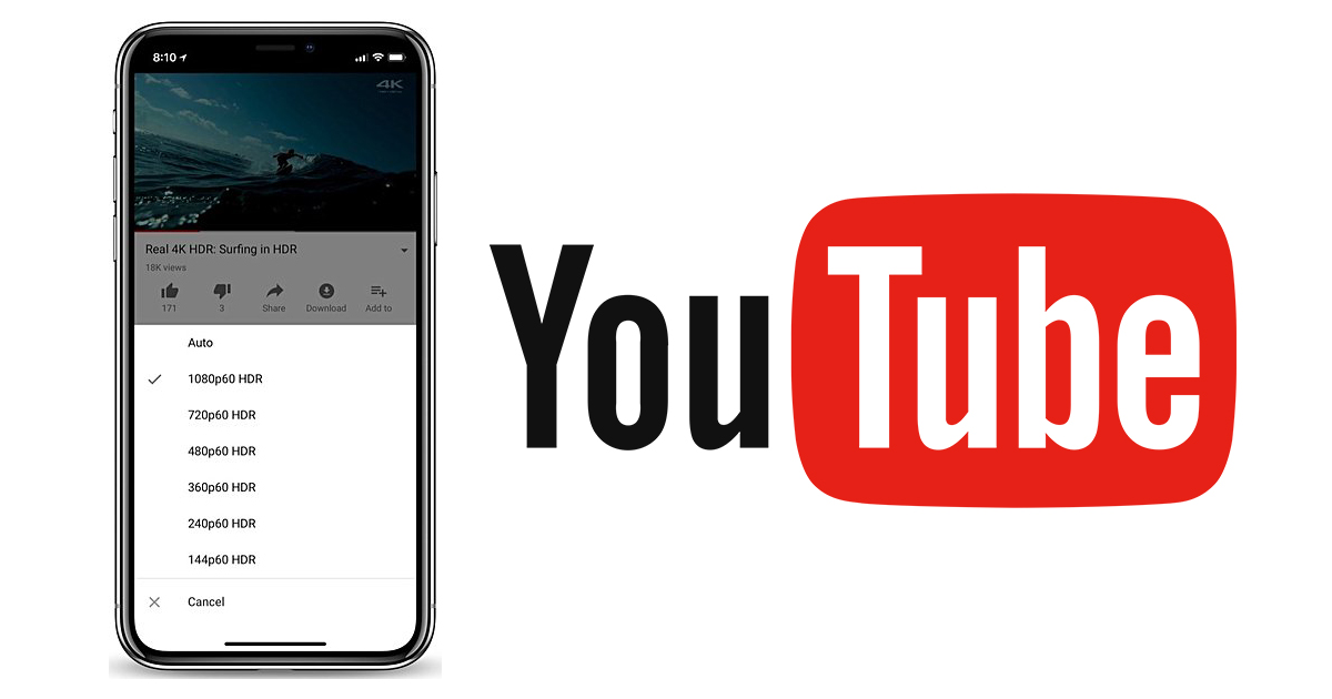 youtube HDR iPhone X