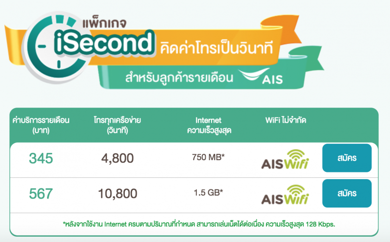 Unlimited AIS iSecond