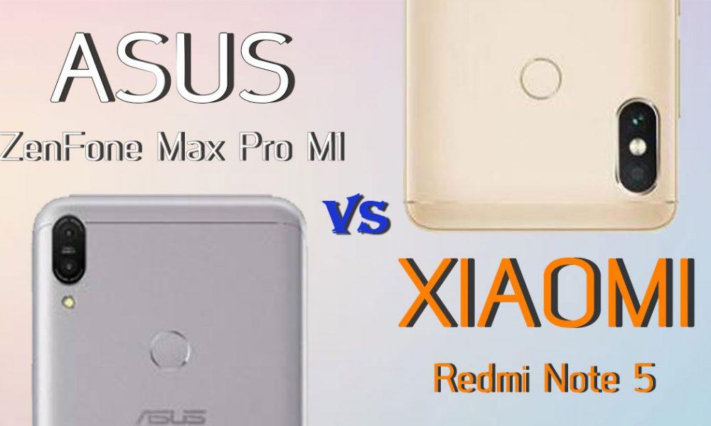 ASUS ZenFone Max Pro M1 and Xiaomi Redmi Note 5