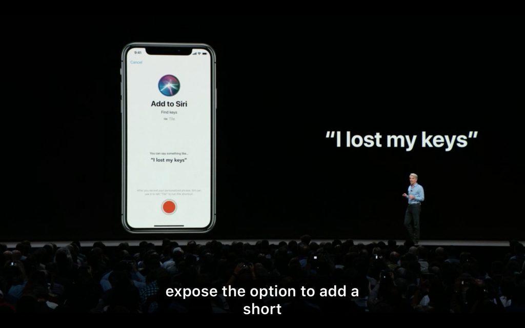 siri iOS 12 WWDC 2018