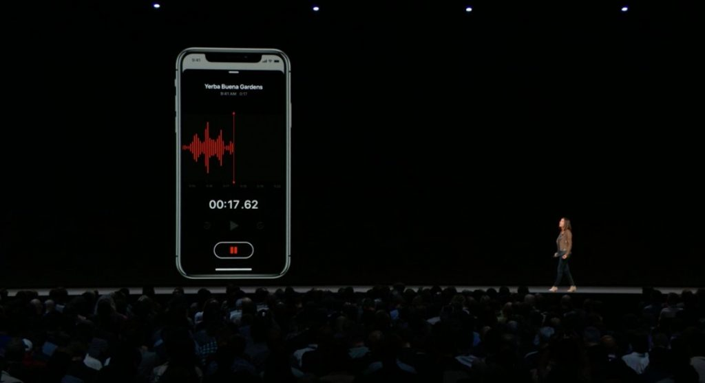voice memo iOS 12 WWDC 2018