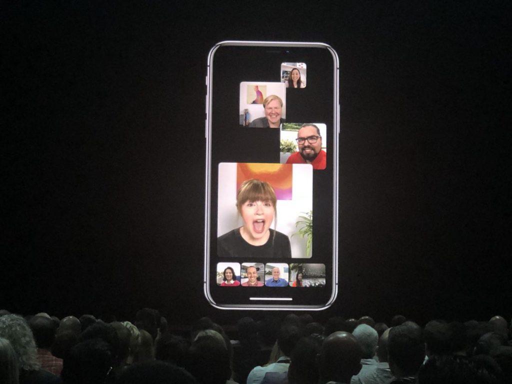group facetime iOS 12 WWDC 2018
