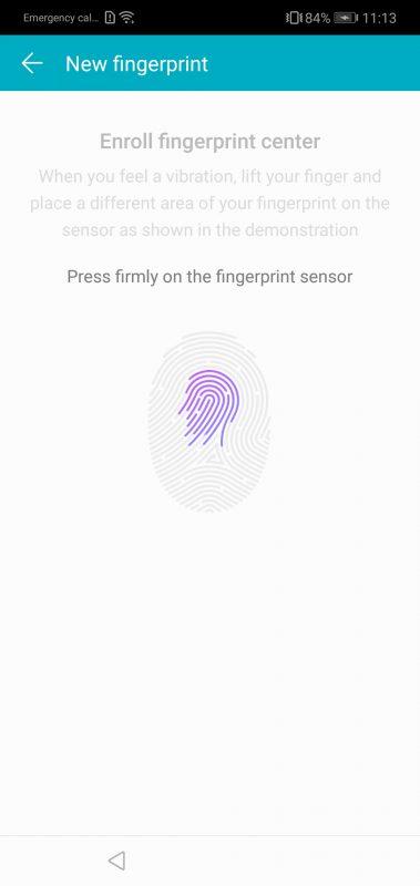 Honor 10 Ultrasonic Fingerprint Scan