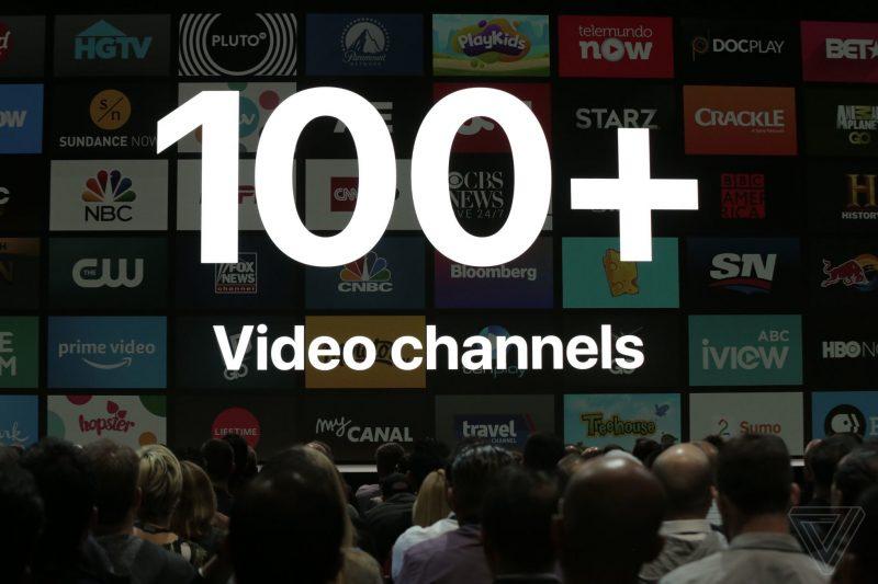 apple_WWDC_2018 100 videos channels on TvOS AppleTV 4K