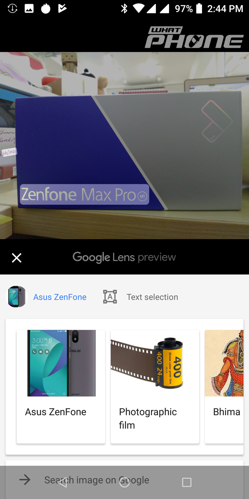 ASUS Zenfone Max Pro M1_Google_Lens