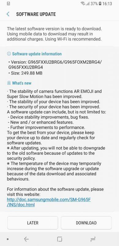 Samsung Galaxy S9 Galaxy S9 Plus New Super Slow Motion Mode Update