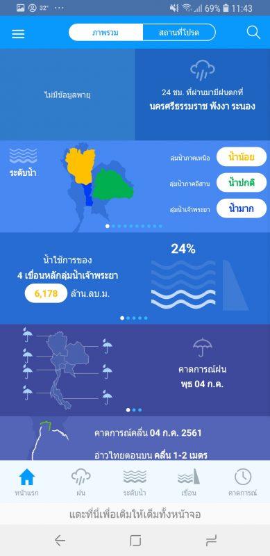 แอพพยากรณ์อากาศ Thai Water