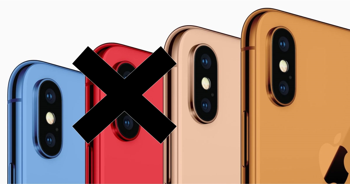 iPhone 2018 All color not red
