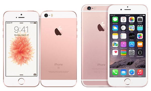 iPhone SE and iPhone 6s