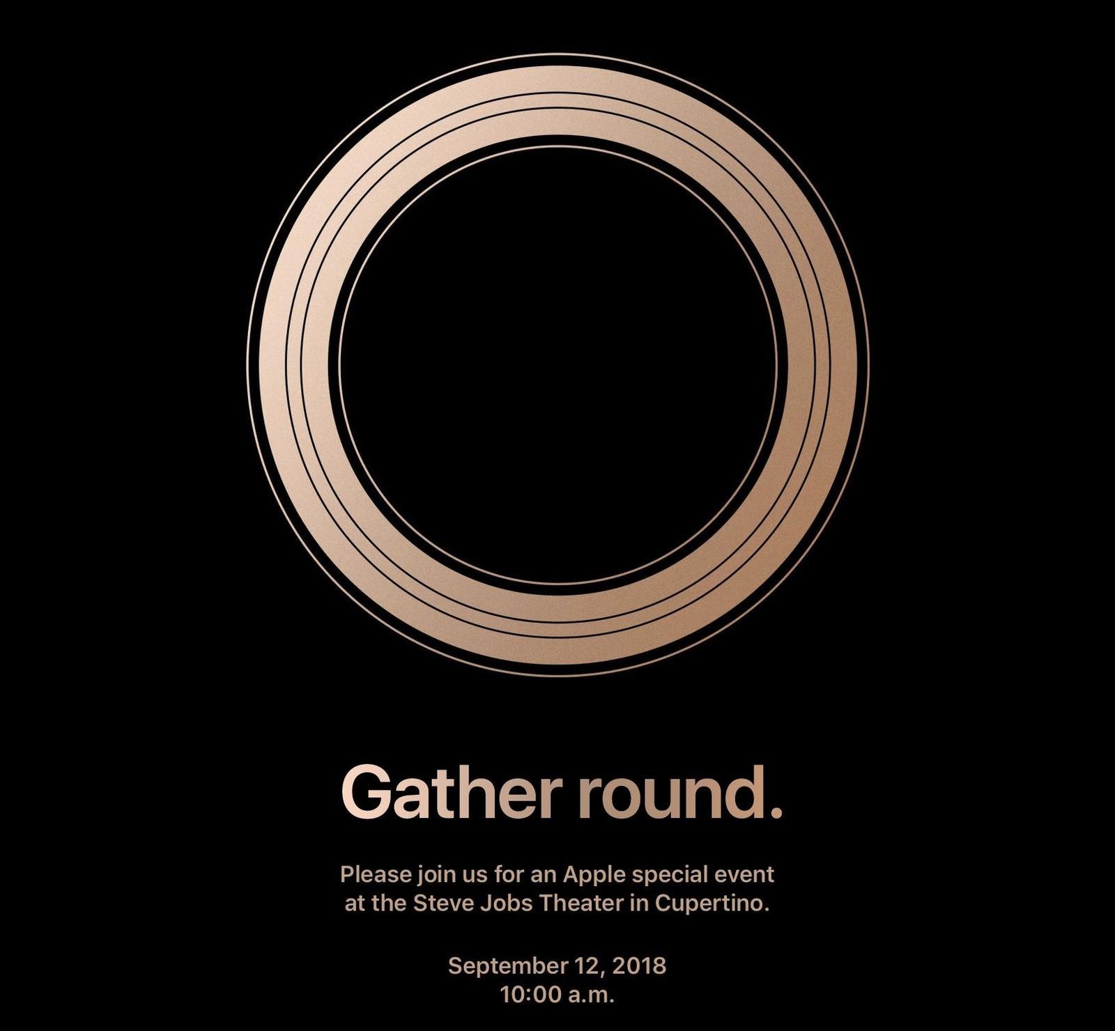 Apple September 12th 2018 invite