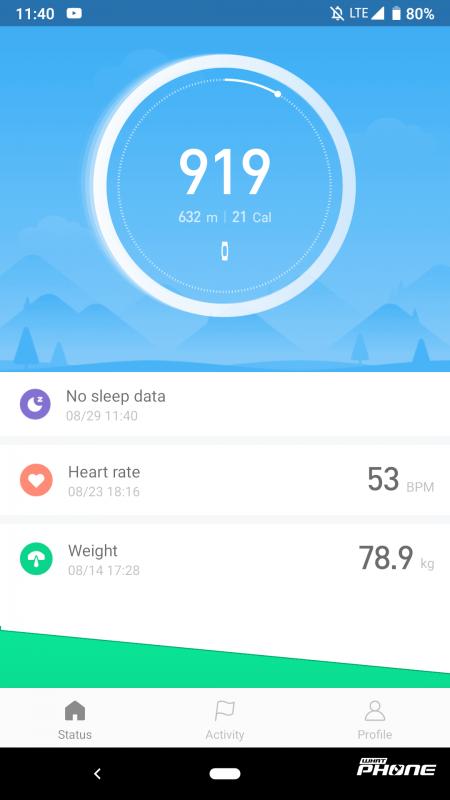 Mi Fit App with Xiaomi Mi Band 3