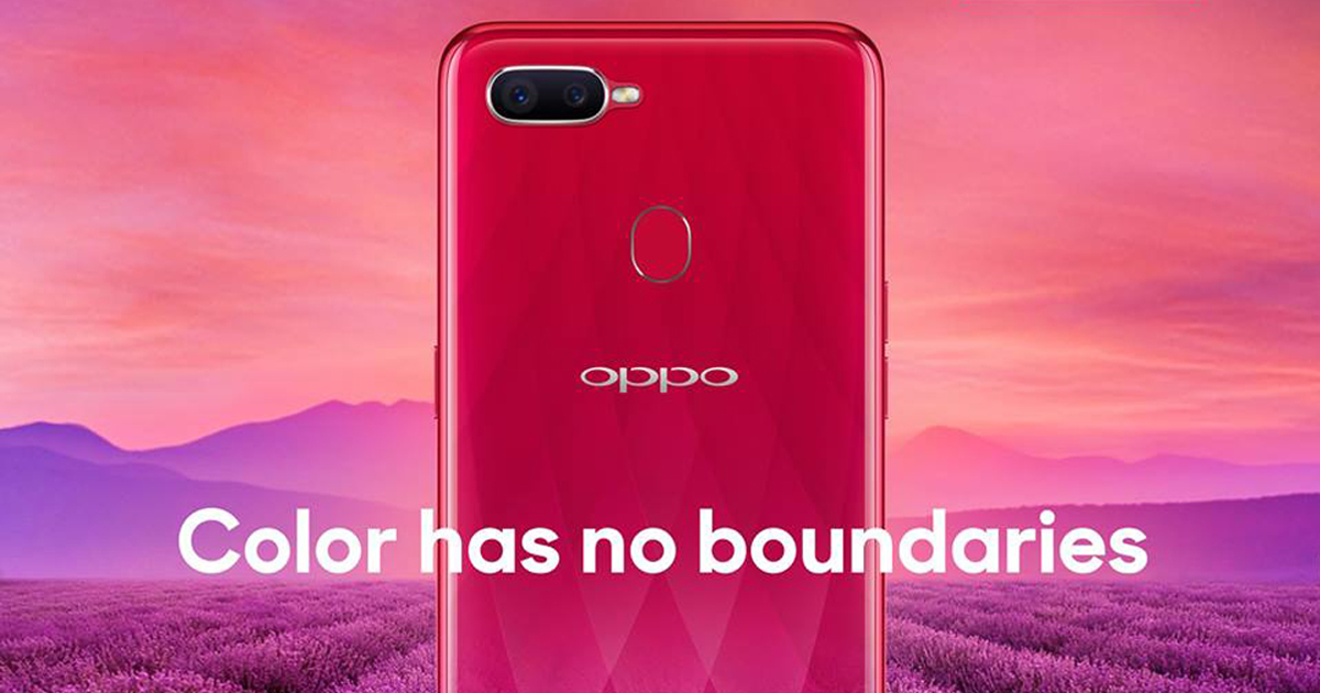 OPPOF9 Color has no boundaries