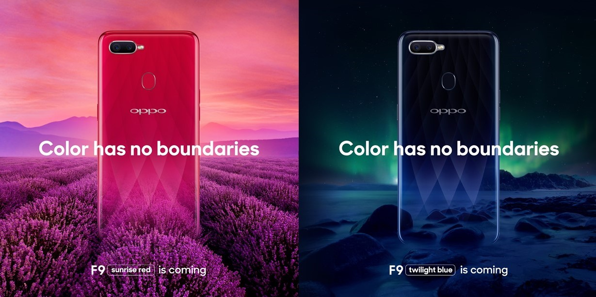 Oppo F9 colors