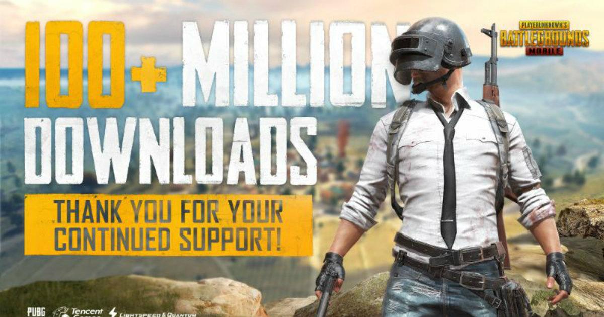 PUBG Mobile 100 Million Download
