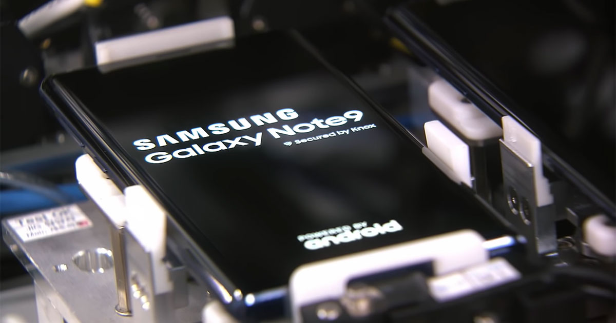 samsung galaxy note 9 factory