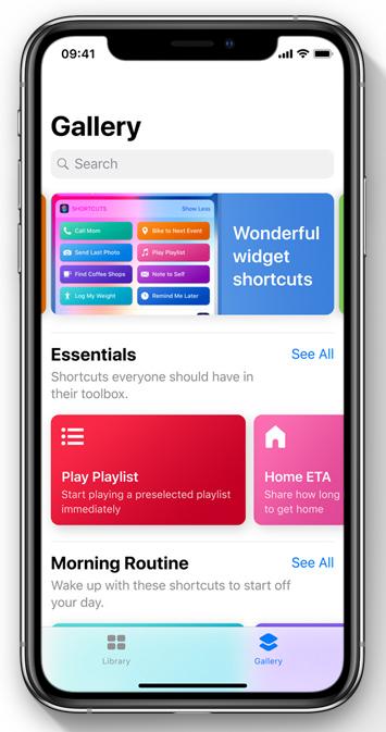 คำสั่งลัด Siri iOS 12