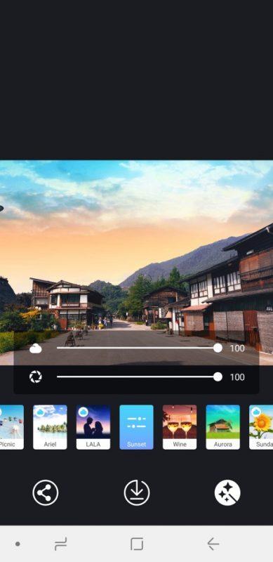 PICNIC - photo filter for dark sky, travel apps