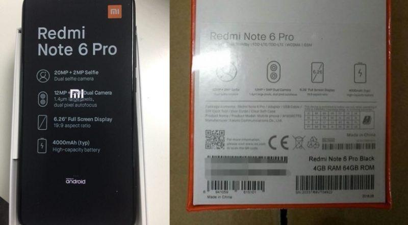 Xiaomi Redmi Note 6 Pro Box Specs