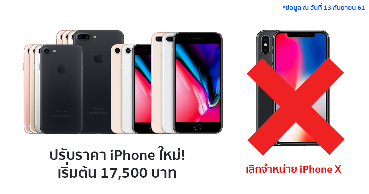 ปรับราคาไอโฟน 2018