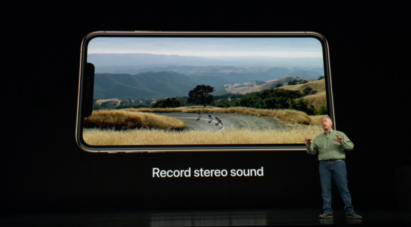 iPhone Xs Camera Record stereo sound video