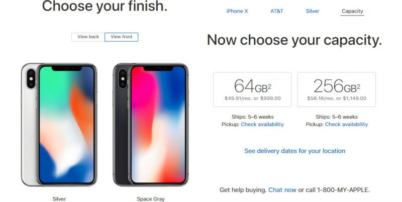 iPhone X Original Price