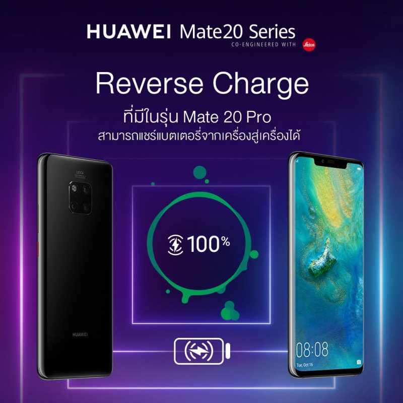 Wireless Reverse Charge ใน HUAWEI Mate 20 Pro