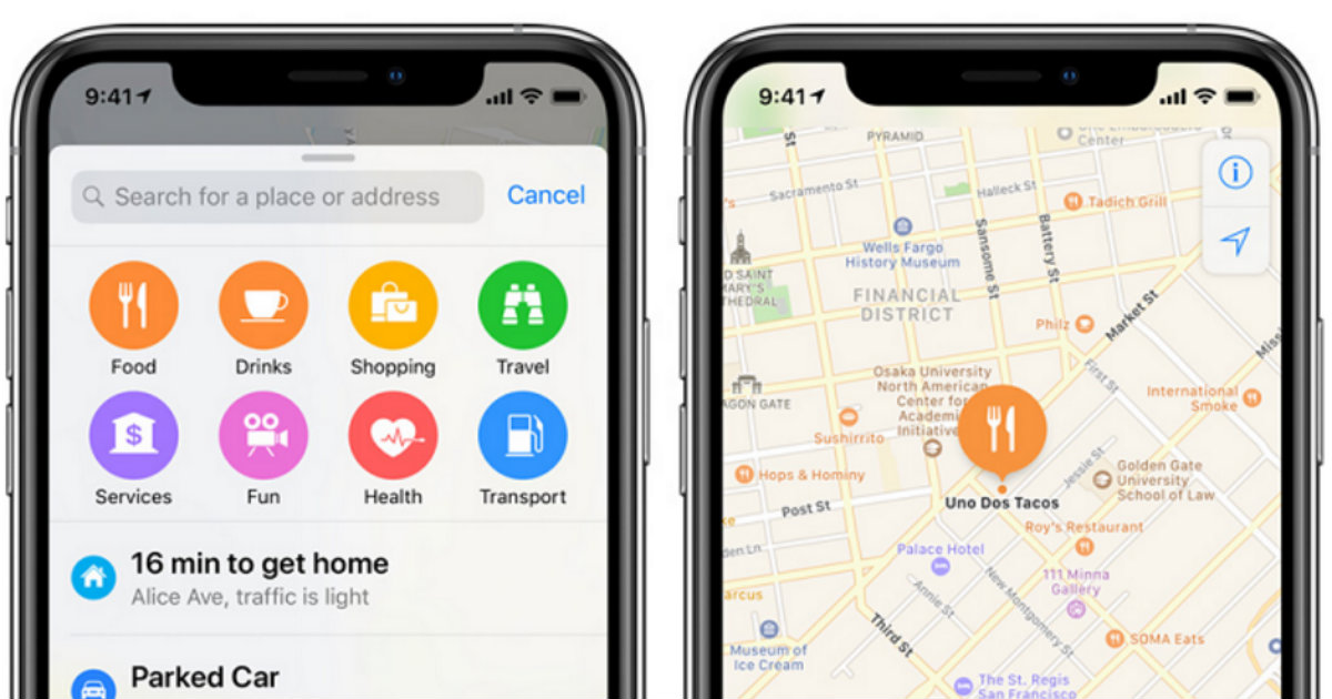 Apple Maps Header