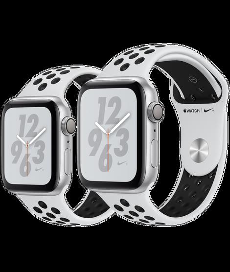 Apple Watch Nike+ ตัวเรือนอะลูมิเนียม สีเงิน พร้อมสาย Nike Sport Band สี Pure Platinum Black