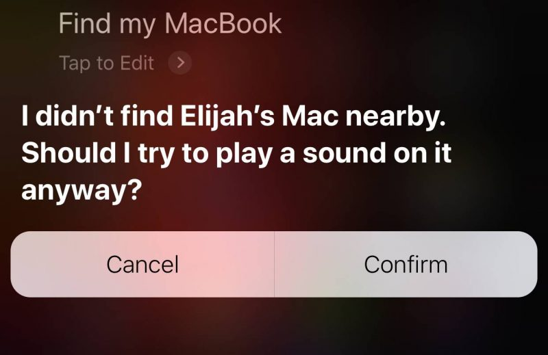 Find-My-iPhone Find My Mac iOS 12 Siri