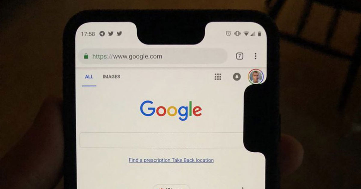 Google Pixel 3 XL Notch Bug