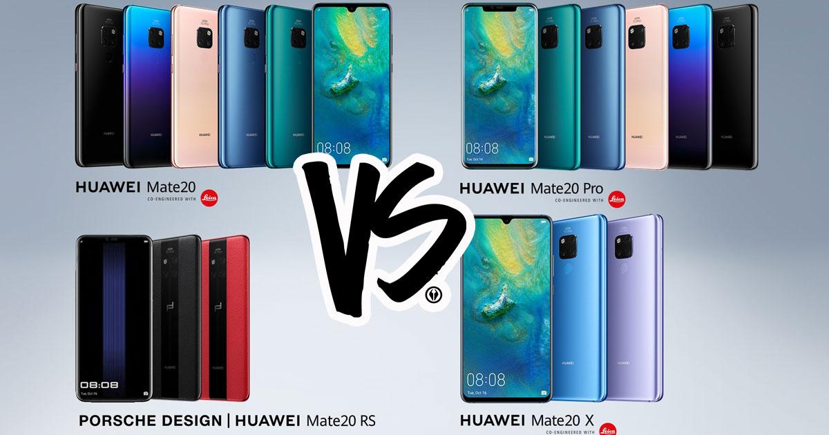 Huawei Mate 20 Series Compare