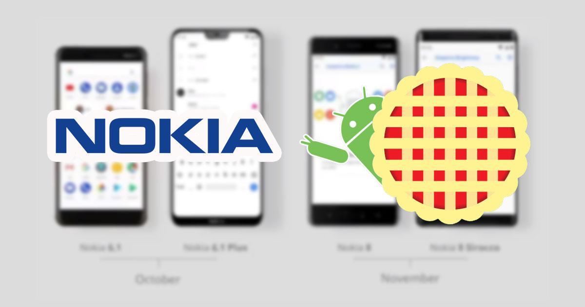 Nokia Android Pie Plan Update 2018