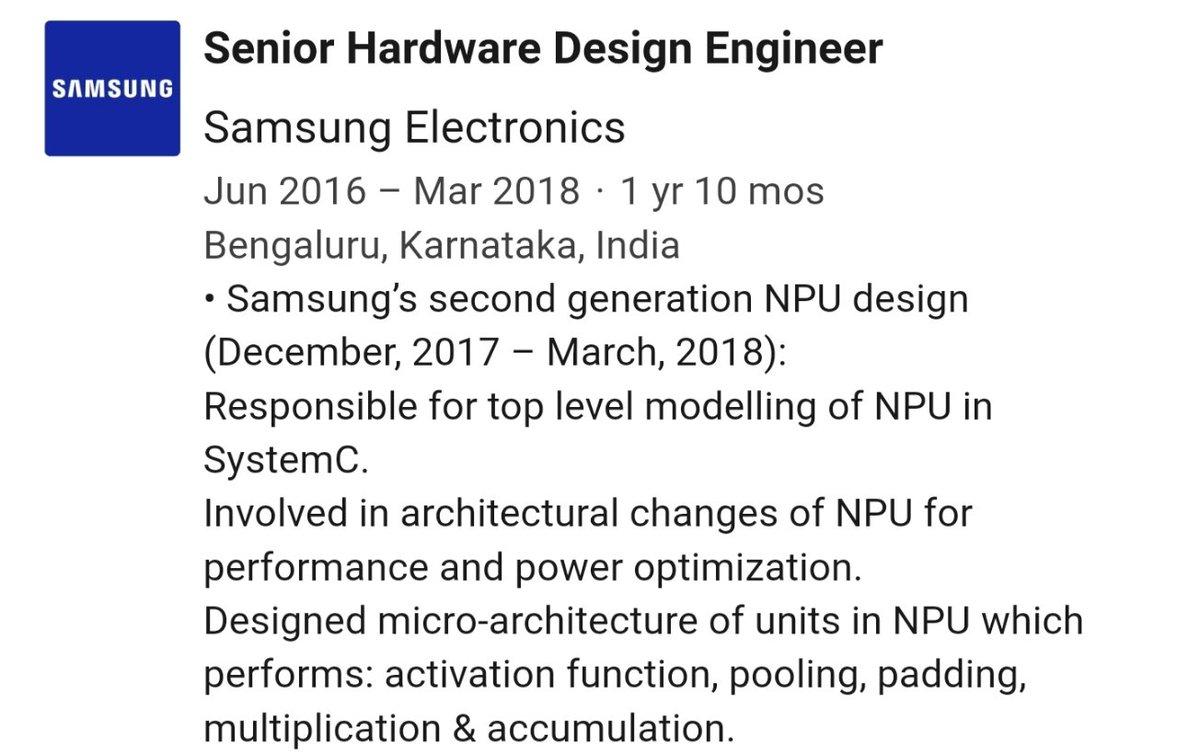 Samsung NPU