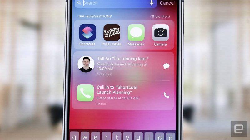 Siri Spotlight Suggestions iOS 12
