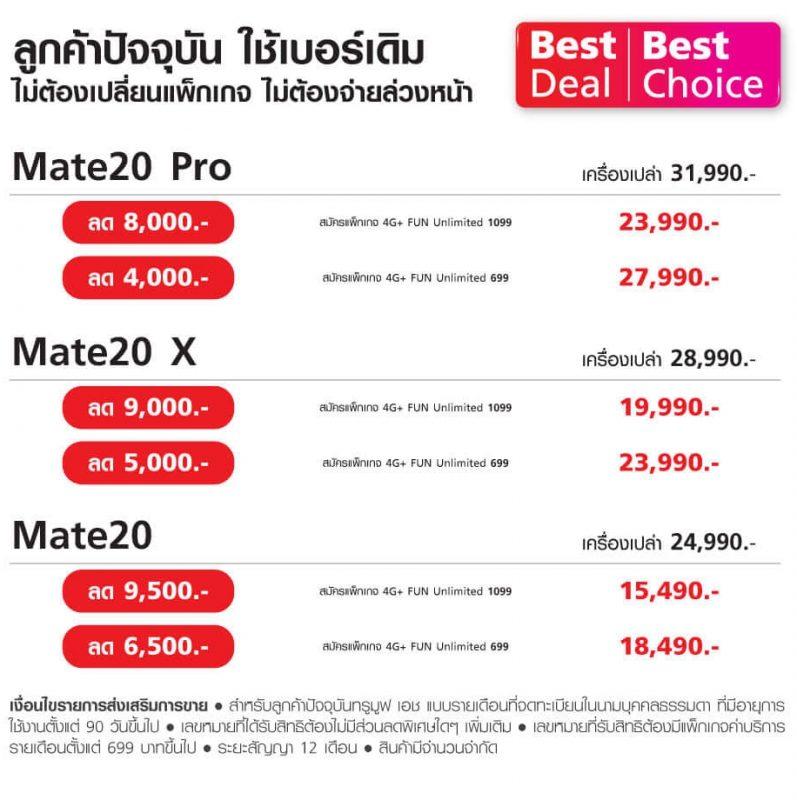 Huawei Mate 20 Pro โปรโมชั่น