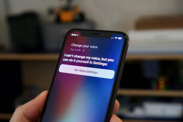 siri change voice iOS 12