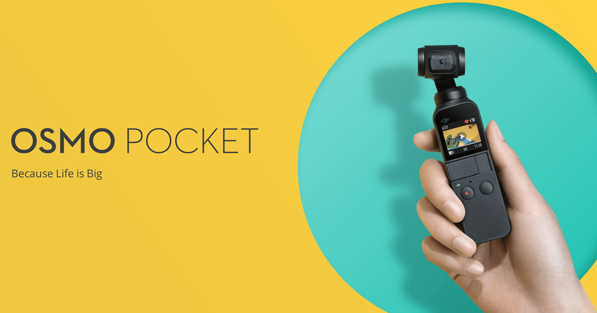 Introduction of the DJI Osmo Pocket 4K video camera with pocket
