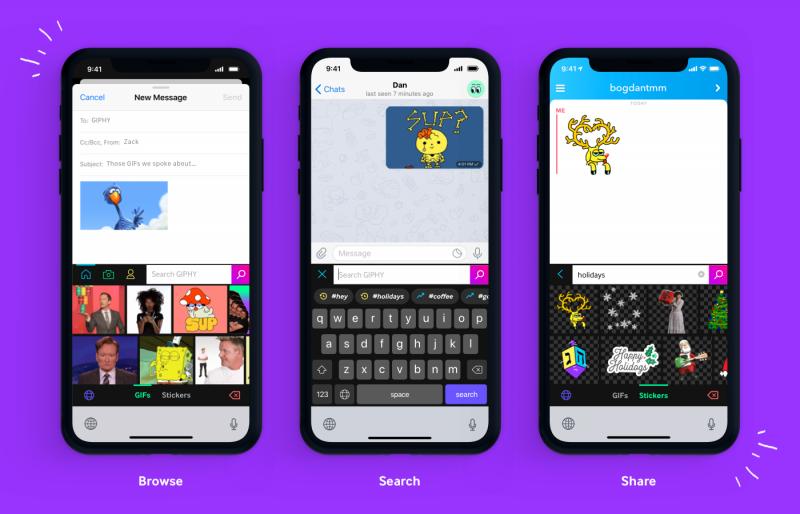 Giphy Keyboard iOS