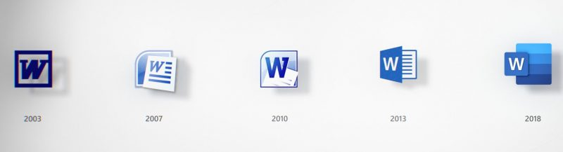 Microsoft Office Icon evolution