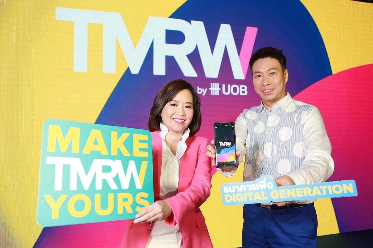 TMRW เปิดตัวแล้ววันนี้ ครั้งแรกในไทยและภูมิภาคอาเซียนกับบริการธนาคารบนมือถือ เพื่อดิจิทัลเจเนอเรชันอย่างแท้จริง