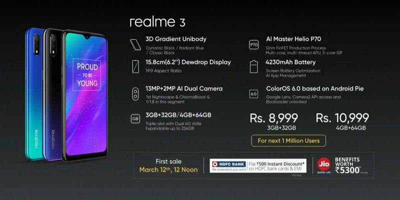 Realme 3 Price