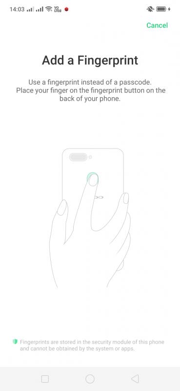OPPO F11 Pro Fingerprint