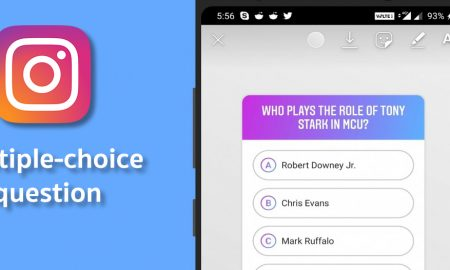 Instagram Stories multiple choice questions